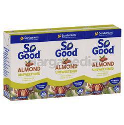Sanitarium So Good Almond Unsweetened Milk 3x250ml