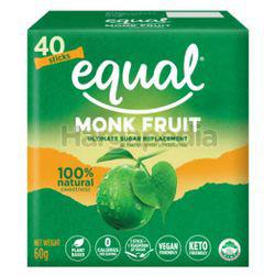 Equal Monk Fruit Natural Sugar Replacement Sweetener 40s