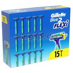 Gillette Blue 2 Flexi Disposable Razor 15s
