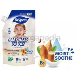 Drypers Baby Head to Toe Almond Milk 500ml