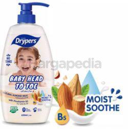 Drypers Baby Head to Toe Almond Milk 700ml