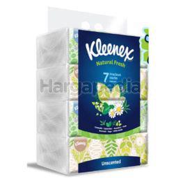 Kleenex 2ply Facial Tissue Soft Pack Natural Fresh 4x160s