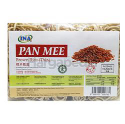 Ina Brown Rice Pan Mee Dried Noodle Broad 530gm