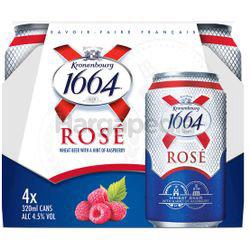 Kronenbourg 1664 Rose Can 4x320ml